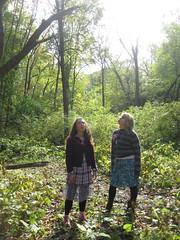 Woodland folk (roses&pearls) Tags: autumn sunlight green nature sunshine woods october awe theforest