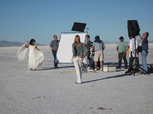 Photo Shoot on the Salt Flats