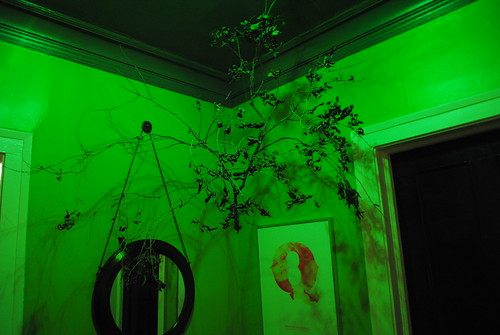 Branches Hung In Foyer - Halloween Decorations