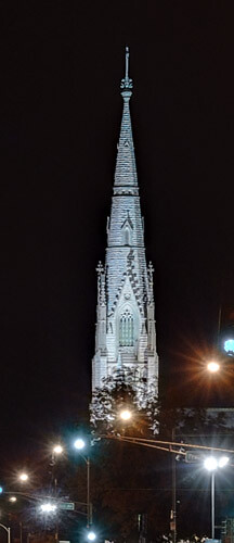 Tower of Saint Alphonsus Liguori (Rock) Church, in Saint Louis, Missouri, USA