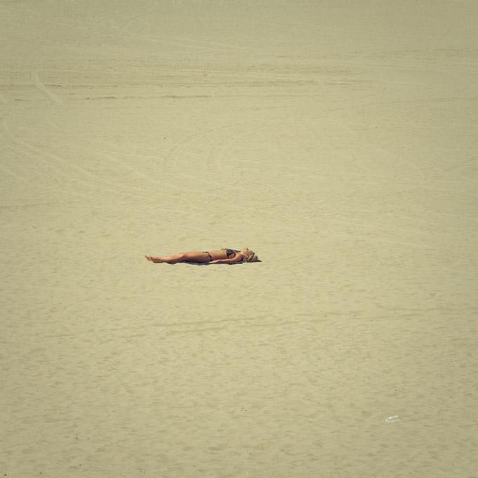 On the Sand - Sun Worshipper
