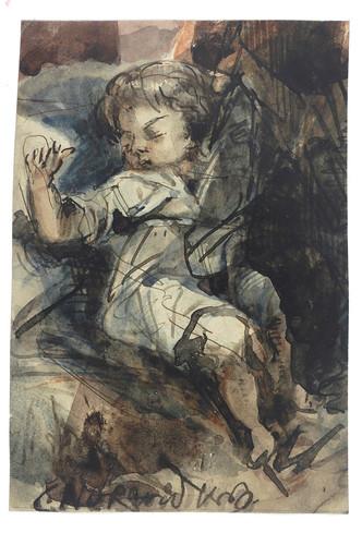 020-Niño dormido-Cyprian Kamil Norwid- 1821-1883