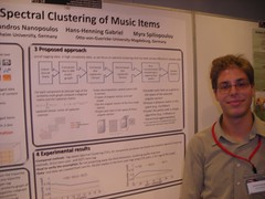 Spectral clustering of music items (PaulLamere) Tags: poster ismir ismir2009