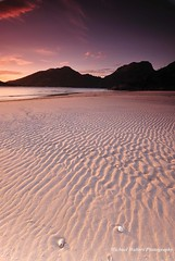 Between The Lines (mick walters/Billy) Tags: longexposure sunset nature landscape sand patterns australia tasmania wineglassbay freycinet colesbay