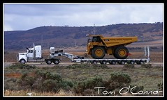 Exact Mining Services (Tom O'Connor.) Tags: road port train cat truck magazine pix fuji power south country fine dump australia mining caterpillar adelaide wa outback augusta trucks sa torque rhodes exact services trucking burton oversize kenworth goldmine whyalla telfer contracting minesite t904 s5700 777d