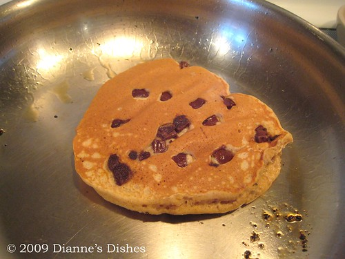 Pumpkin Chocolate Chunk Pancakes: Flipped
