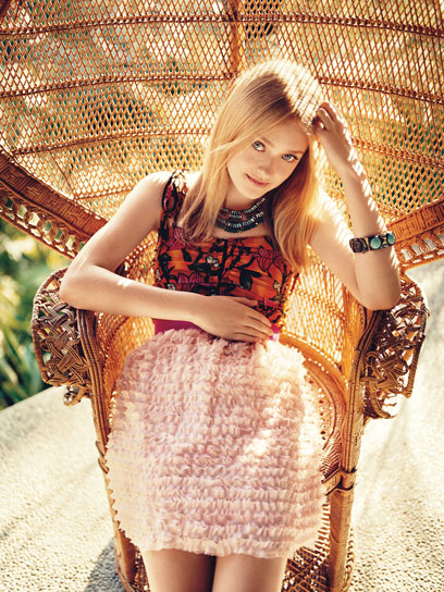 Dakota Fanning modeling for Teen Vogue
