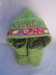 Greta Lime Hooded Towel (spiritofgiving) Tags: towels custom personalized hooded