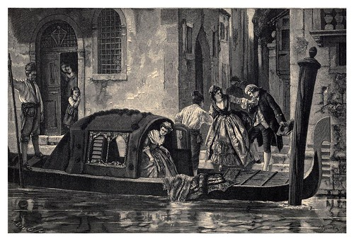 028-Las gondolas en Venecia-Italian pictures drawn with pen and pencil 1878