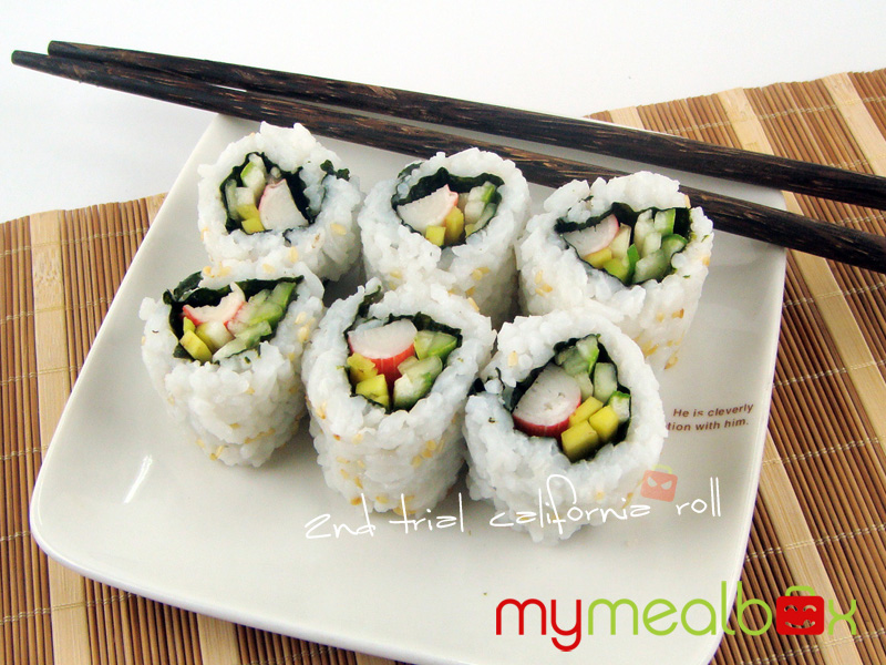 California roll, 2nd trial