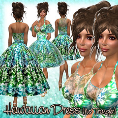 Hawaiian Dress (Turquoise-multi)