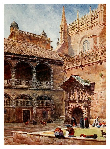 034-Granada- Exterior de la catedral-Cathedral cities of Spain 1909- W.W Collins
