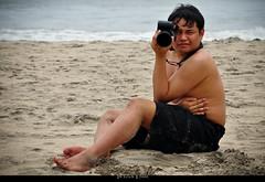 Model Pose (scion_cho) Tags: summer portrait people black male beach japan canon model photographer july filipino shorts softwaredeveloper shizuoka mayhem pinoy izu astra shimoda apo50150mmf28exdchsm