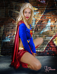 Supergirl Downtown Metropolis (VictoriaCosplay) Tags: cosplay victoria superman wonderwoman batman supergirl greenlantern smallville superboy cosplaygirl connorkent blackestnight wwwcosplaygirlwebscom