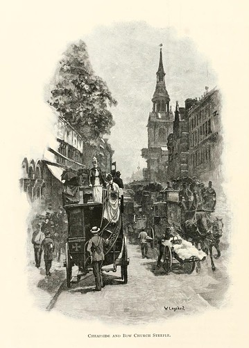 021-Cheapside y la iglesia de Bow Steeple- London pictures drawn with pen and pencil 1890-Richard Lovett