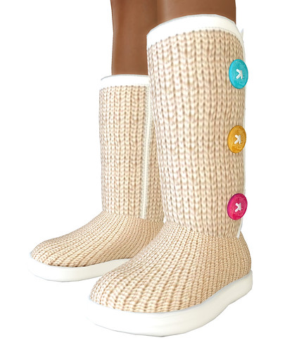 button knit boots