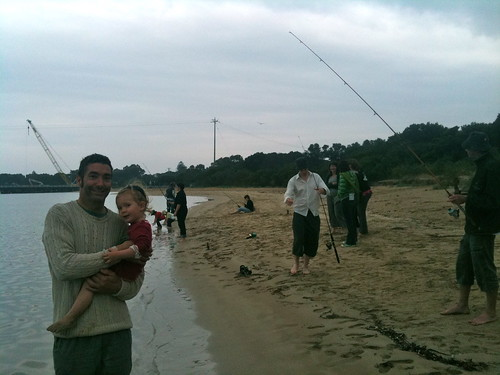 Fishing near the Barwon Heads Bridge
