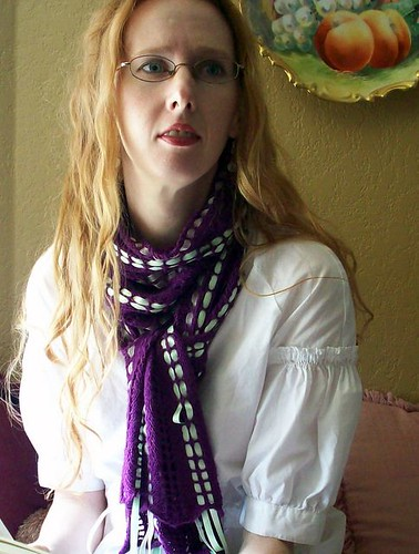 Ribbon Candy as a scarf