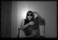 Saturday (L-A-U-R-A ♪♫) Tags: portrait bw italy woman laura rome sepia night bars saturday local