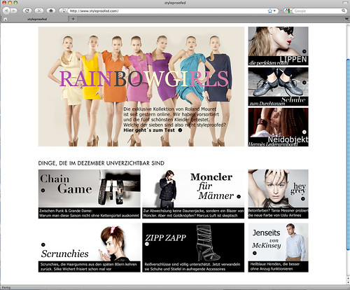 Screenshot Styleproofed-Website
