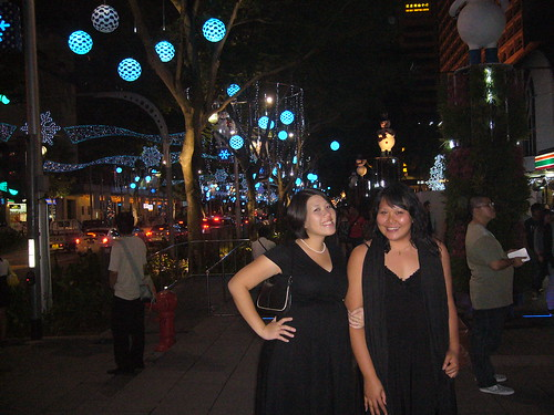Hosie and I @ Orchard after dinnah