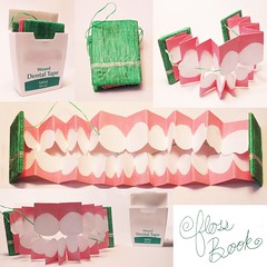 Floss Book (Alex Stikeleather) Tags: paper book teeth gums accordian floss dentalhygiene dentures dentaltape