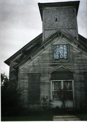 hello, god (bowerbirdnest) Tags: abandoned church 35mm adams tennessee