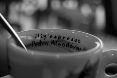 Illy Expresso. (Suzanne Bouron) Tags: cup tasse caf bar port la nikon harbour spoon pedro cuillre rochelle colher almodovar xicara d40