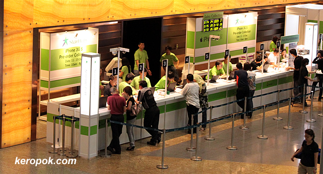 Starhub iPhone Collection centre at Suntec City