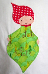 Pixie shirt (twolittlefishes) Tags: red cute green shirt woodland pixie applique