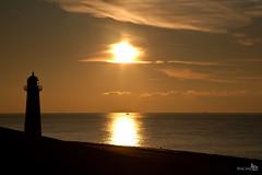 Sunset (15:55) (BraCom (Bram)) Tags: sunset sea sky orange lighthouse clouds reflections zonsondergang ship glow wolken zee lucht vuurtoren oranje gloed schip spiegeling rubyphotographer bracom bramvanbroekhoven