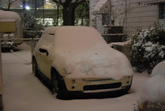 Snow-Covered Mini (NCReedplayer) Tags: winter snow ice nc snowstorm northcarolina mini greensboro minicooper minicoopers winterweather sleet