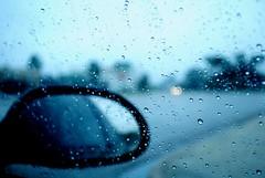 Rainy Day. (Sadie Hernandez) Tags: window car rain lights mirror nikon ride bokeh mirrors blues roads brownsville d3000