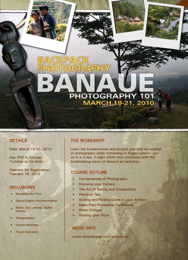 Backpack Photography Banaue