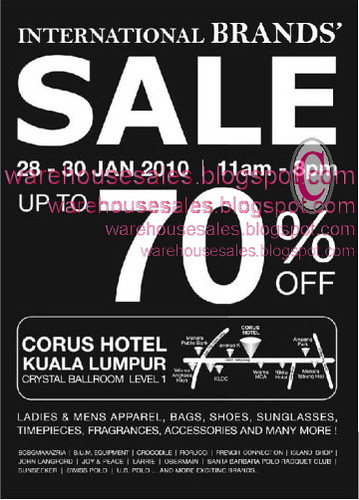 28 - 30 Jan: Corus Hotel International Brands Sale