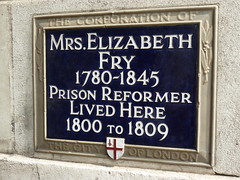 Photo of Elizabeth Fry blue plaque