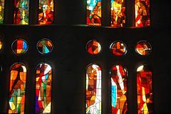 vitraux à la Sagrada Familia (cakko93) Tags: religion cathédrale sagradafamilia espagne église couleur barcelone vitraux