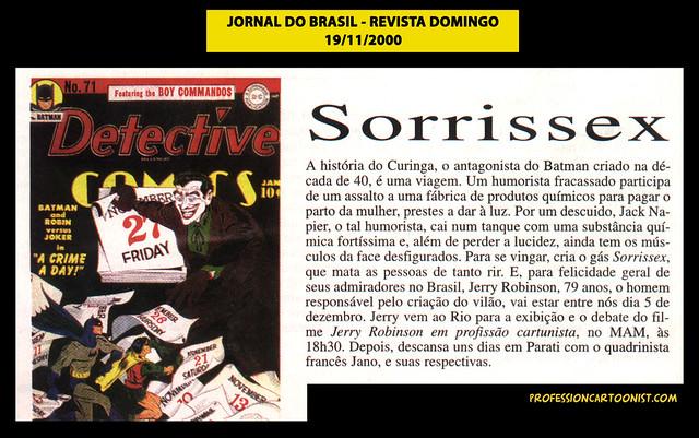 """""""Sorrissex"""" - Jornal do Brasil - 19/11/2000"""