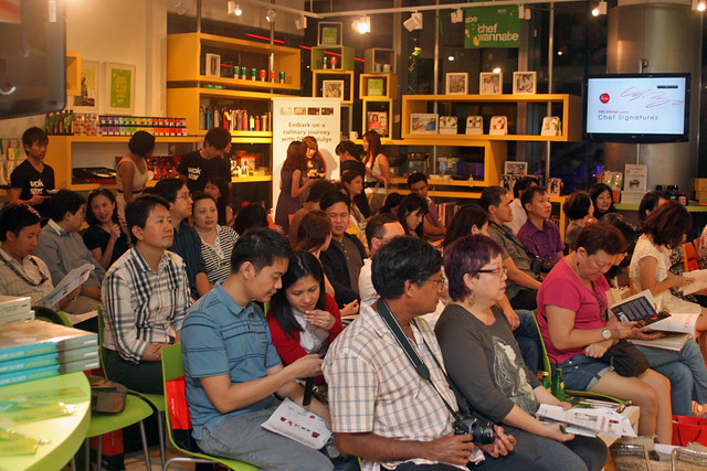Chef Sho Naganuma presented to a full audience for the DBS Masterclass at AFC Studio