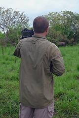 JK Tracking Rhinos on Foot, Ziwa Rhino Sanctuary, Uganda 1/2