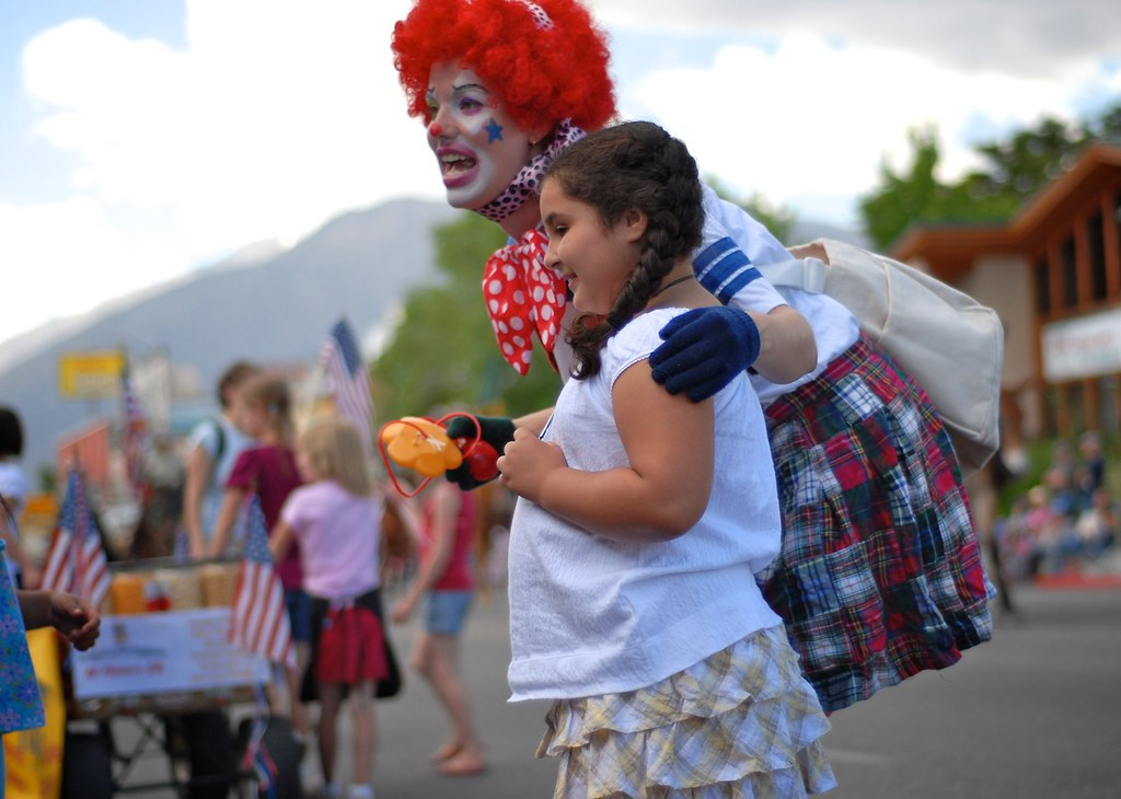 Clowning around at Mule Days