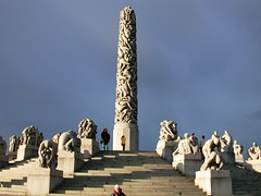 The Monolith at Vigeland Park in Oslo