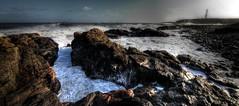 Aberdeen - Winter Storm (In Explore) (PeskyMesky) Tags: lighthouse storm canon explore aberdeen february aberdeenharbour aberdeenbeach canoneos500d