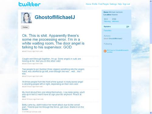 ghost michaeljackson twitter ghostofmichaelj