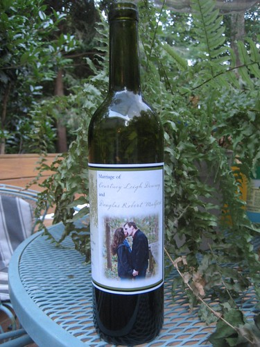 Wine wedding gift from the Austins