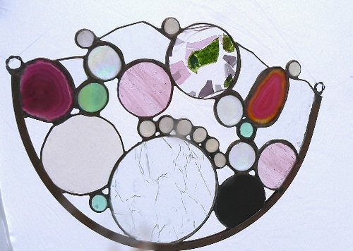 Stained Glass OOAK Sculptural Window Hanging