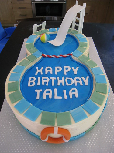 Talia's swimming pool cake