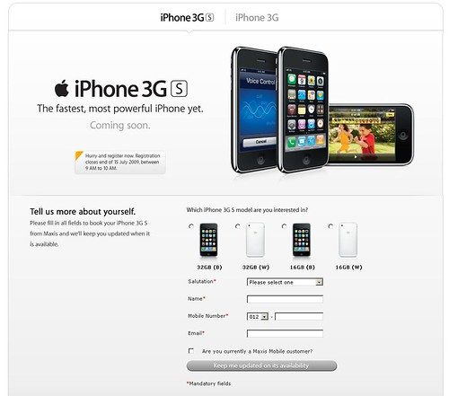 Maxis iPhone 3G s