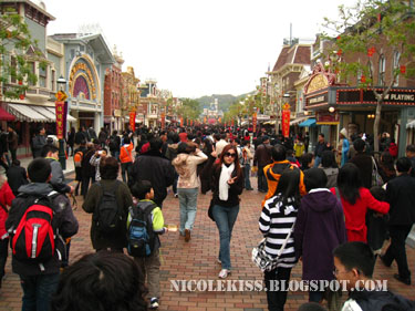 me on hk disneyland  main street