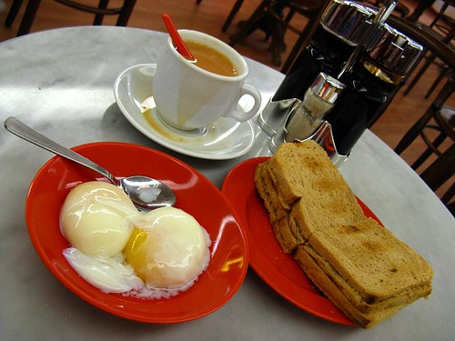 Traditional Singaporean breakfast